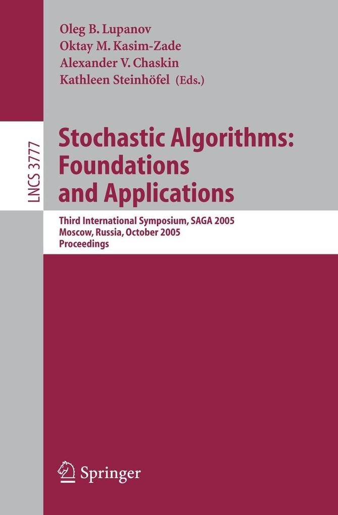 Stochastic Algorithms: Foundations and Applications als Buch