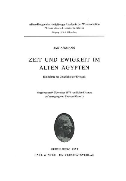 Zeit und Ewigkeit im alten Ägypten als Buch