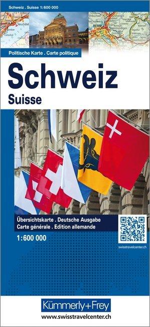 Schweiz Politische Karte 1:600 000 als Buch
