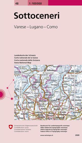 Swisstopo 1 : 100 000 Sotto Ceneri als Buch