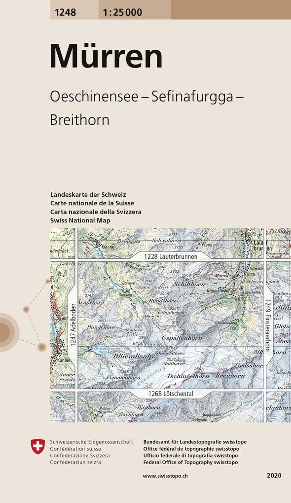 Swisstopo 1 : 25 000 Mürren als Buch