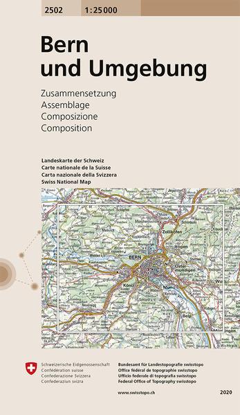 Swisstopo 1 : 25 000 Bern und Umgebung als Buch