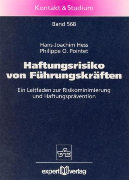 Haftungsrisiko von Führungskräften als Buch