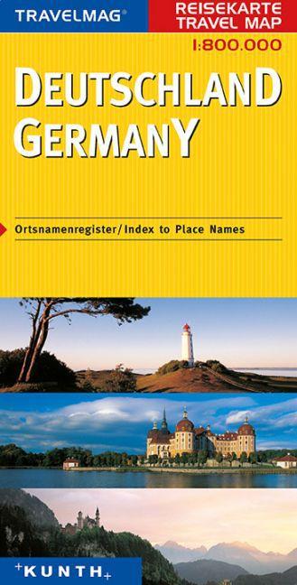 KUNTH Reisekarte Deutschland 1 : 800 000 als Bu...