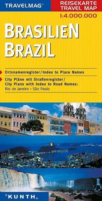 KUNTH Reisekarte Brasilien 1 : 4 000 000 als Buch