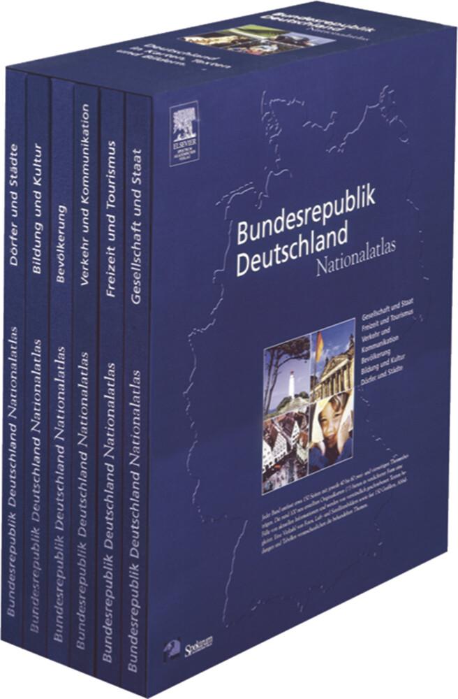 Bundesrepublik Deutschland, Nationalatlas, 6 Bde. als Buch