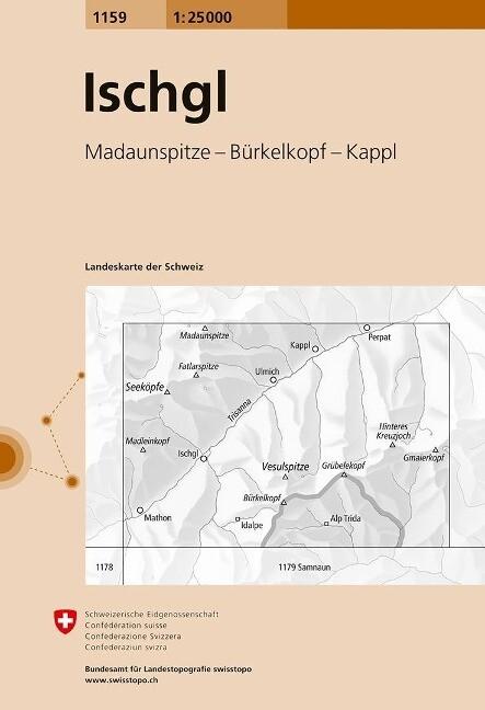 Swisstopo 1 : 25 000 Ischgl als Buch