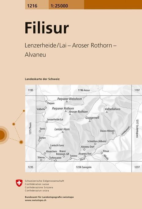 Swisstopo 1 : 25 000 Filisur als Buch