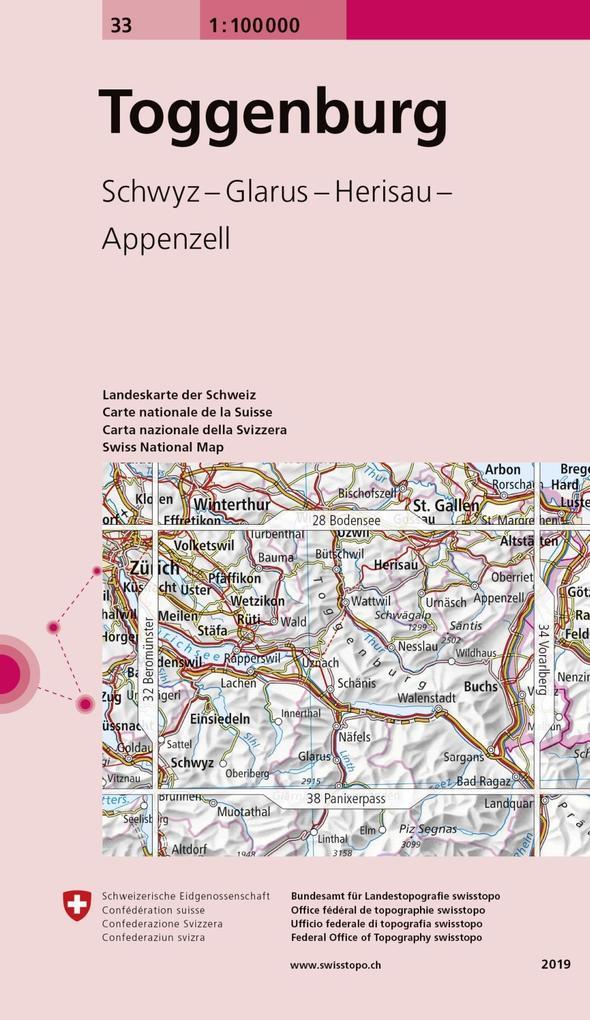 Swisstopo 1 : 100 000 Toggenburg als Buch