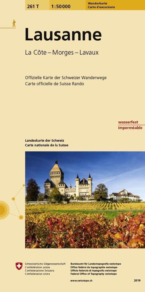Swisstopo 1 : 50 000 Lausanne als Buch