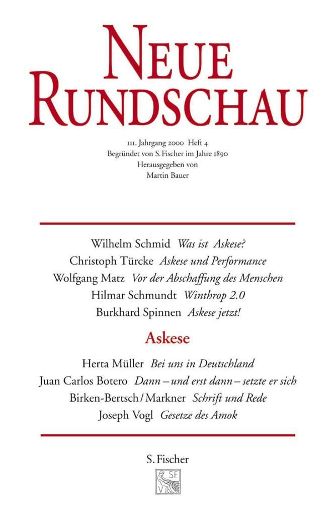Neue Rundschau 2001/3 als Buch