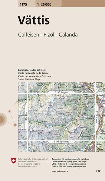 Swisstopo 1 : 25 000 Vättis als Buch