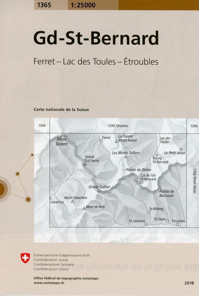 Swisstopo 1 : 25 000 Gd St-Bernard als Buch