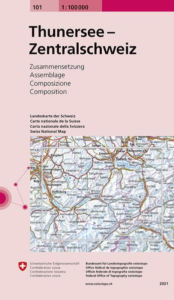 Swisstopo 1 : 100 000 Thunersee Zentralschweiz als Buch