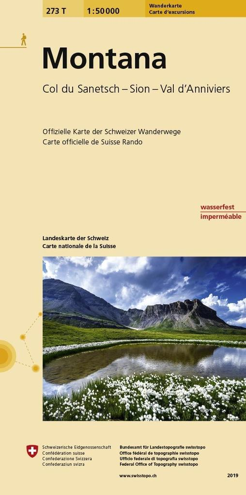 Swisstopo 1 : 50 000 Montana als Buch