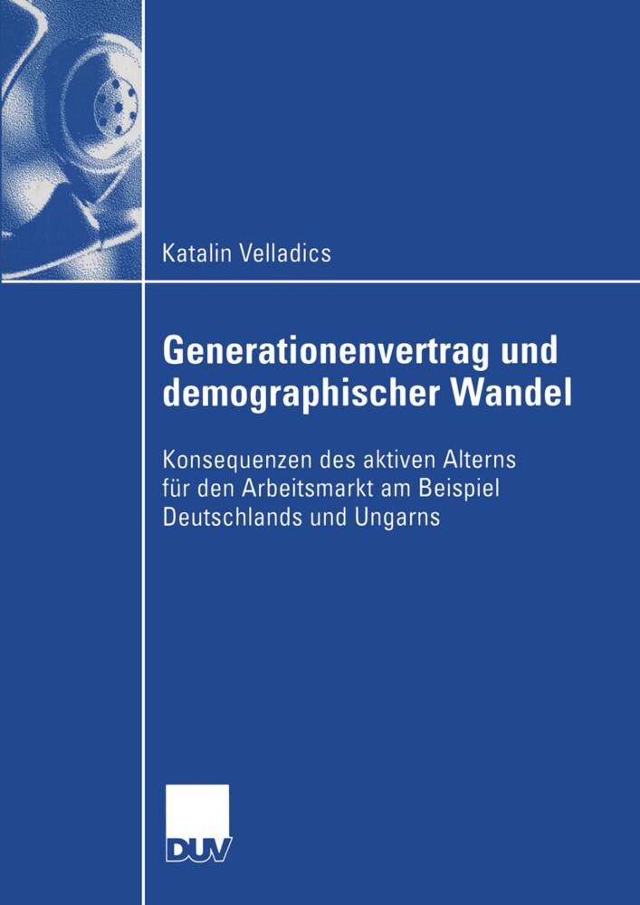 Generationenvertrag und demographischer Wandel als Buch