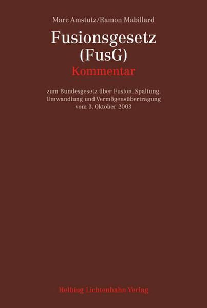 Fusionsgesetz (FusG) als Buch
