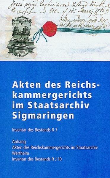 Akten des Reichskammergerichts im Staatsarchiv Sigmaringen als Buch