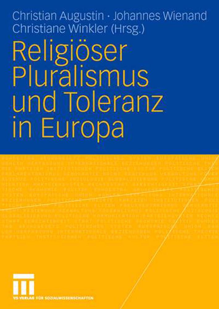 Religiöser Pluralismus und Toleranz in Europa als Buch