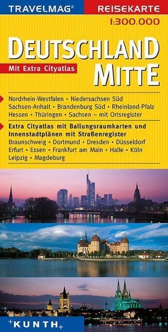 KUNTH Reisekarte Deutschland Mitte 1 : 300 000 als Buch