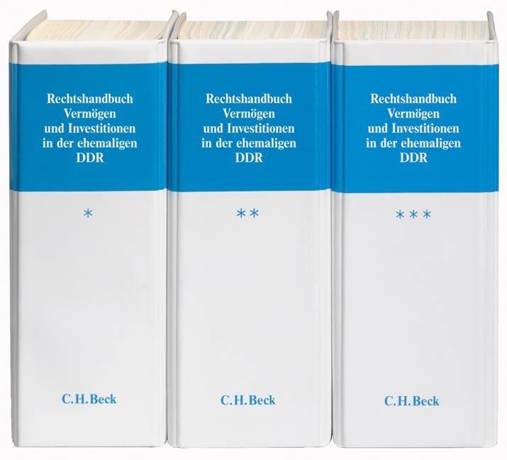 Rechtshandbuch Vermögen und Investitionen in der ehemaligen DDR, in 3 Ordnern zur Fortsetzung als Buch