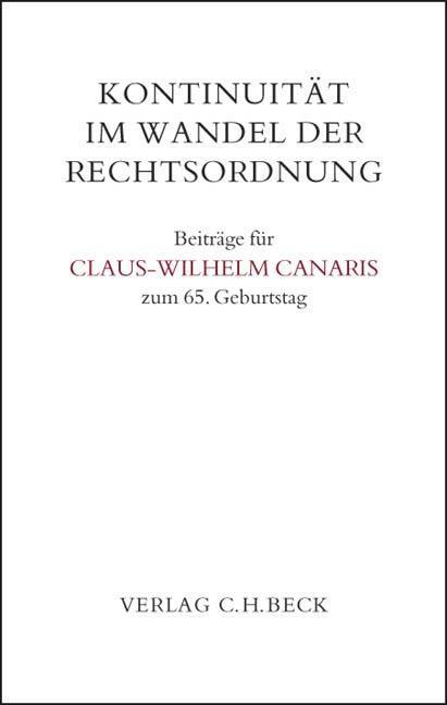 Kontinuität im Wandel der Rechtsordnung als Buch