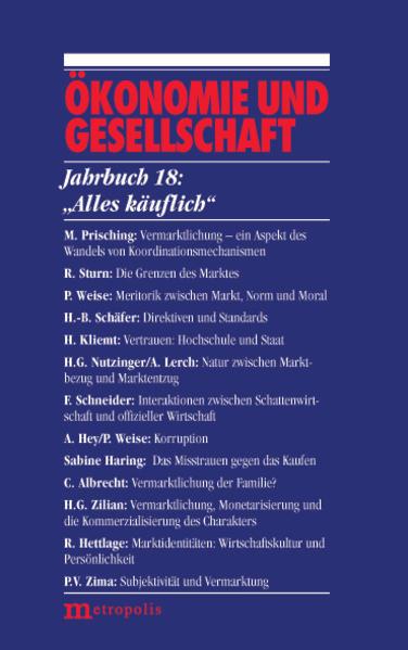 Jahrbuch Ökonomie und Gesellschaft 18.' Alles käuflich.' als Buch