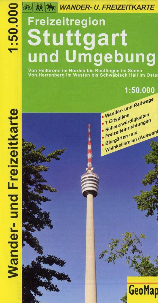 Freizeitregion Stuttgart und Umgebung 1 : 50 000. Wander- und Freizeitkarte als Buch