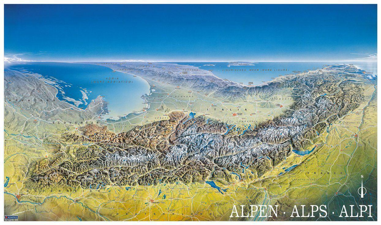 Alpenpanorama Poster als Buch