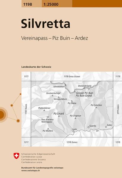 Swisstopo 1 : 25 000 Silvretta als Buch
