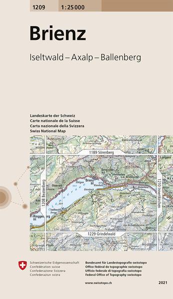 Swisstopo 1 : 25 000 Brienz als Buch
