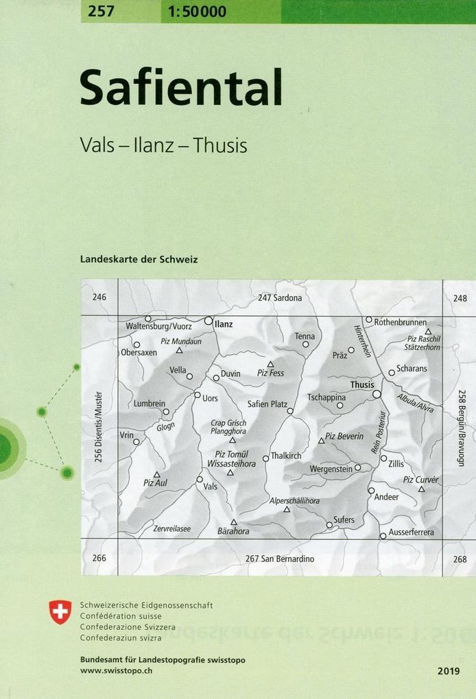 Swisstopo 1 : 50 000 Safiental als Buch