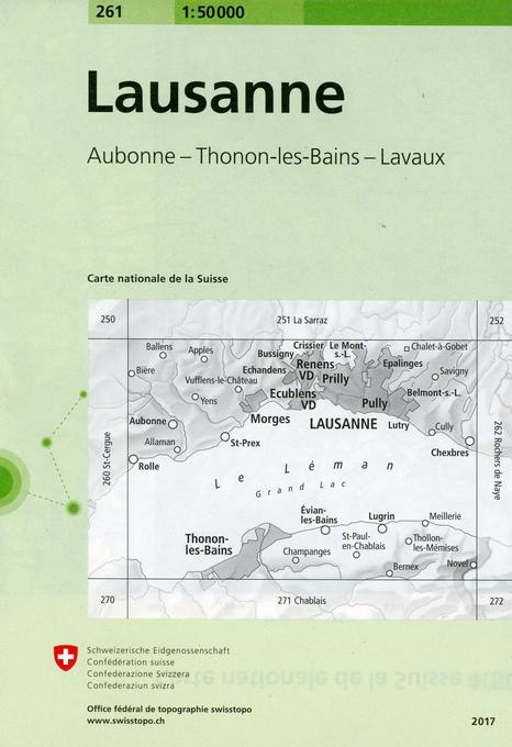 Swisstopo Lausanne 1 : 50 000 als Buch