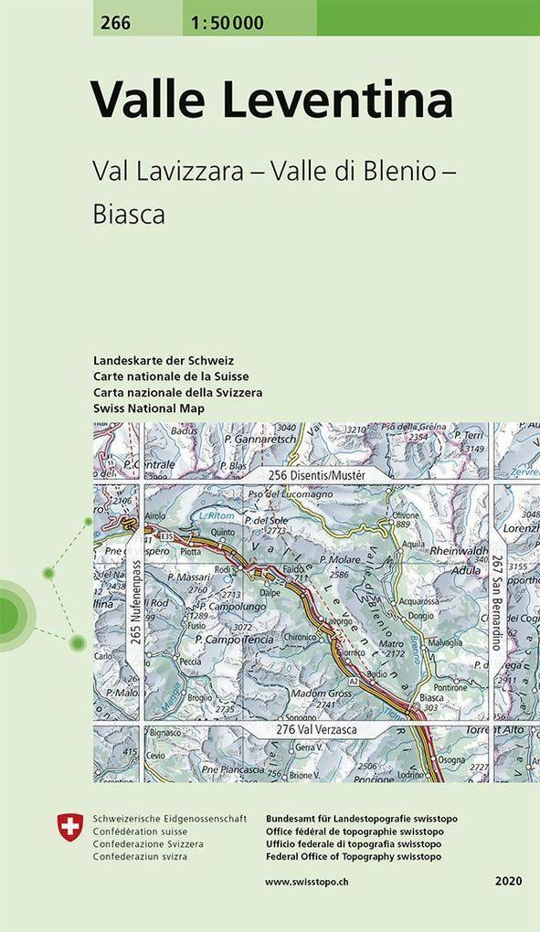 Swisstopo 1 : 50 000 Valle Leventina als Buch