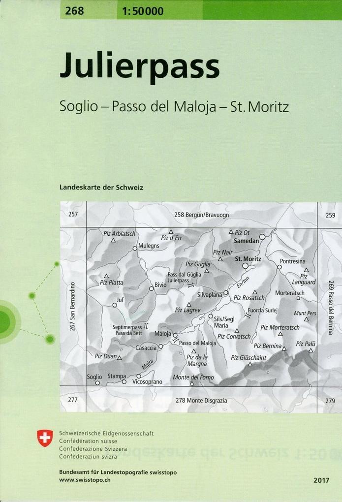 Swisstopo 1 : 50 000 Julierpass als Buch