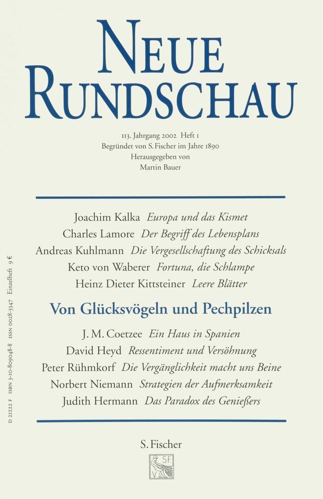 Neue Rundschau 2002/1 als Buch