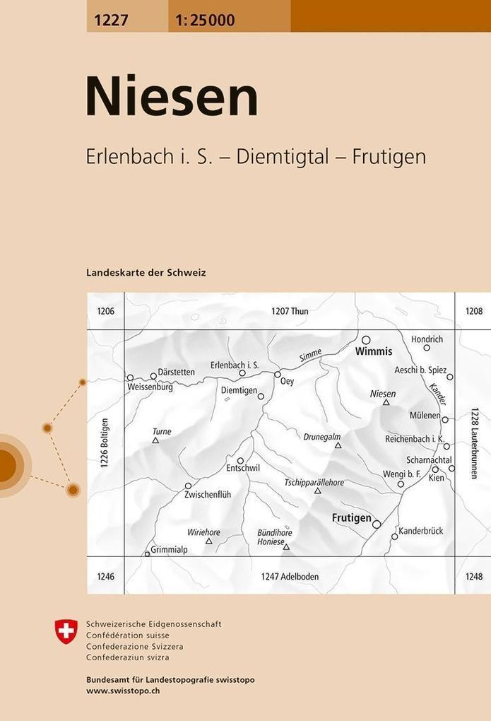 Swisstopo 1 : 25 000 Niesen als Buch