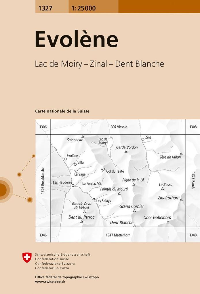 Swisstopo 1 : 25 000 Evolène als Buch