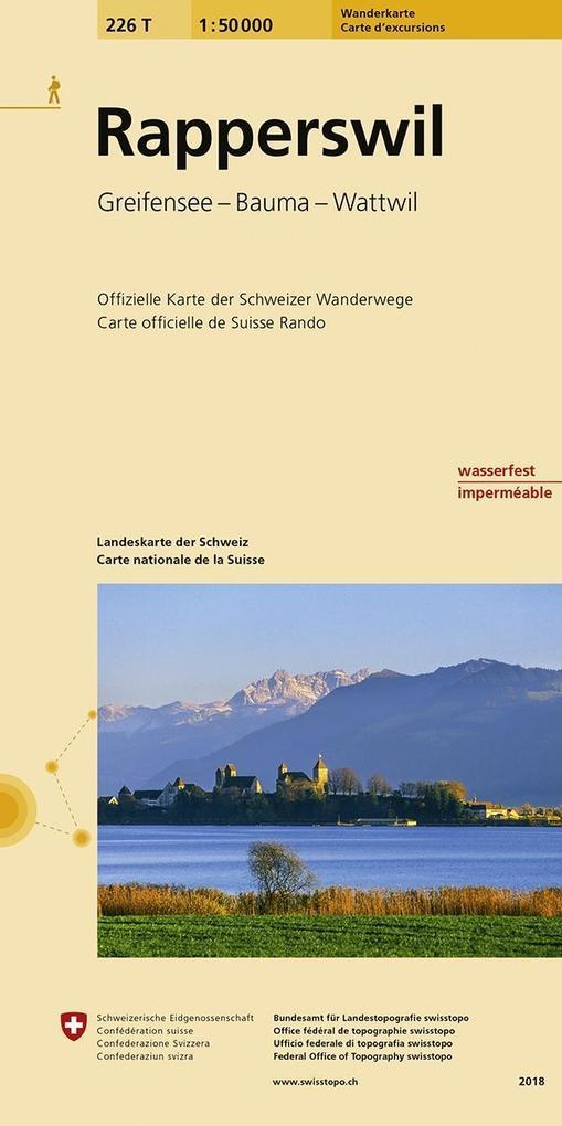 Swisstopo 1 : 50 000 Rapperswil als Buch
