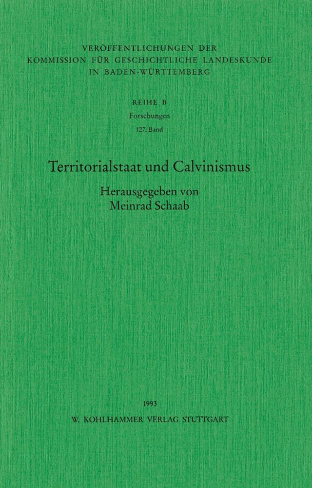 Territorialstaat und Calvinismus als Buch