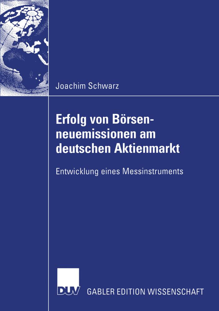 Erfolg von Börsenneuemissionen am deutschen Aktienmarkt als Buch