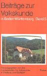 Beiträge zur Volkskunde V in Baden-Württemberg als Buch