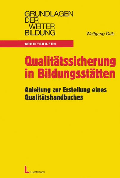 Qualitätssicherung in Bildungsstätten als Buch