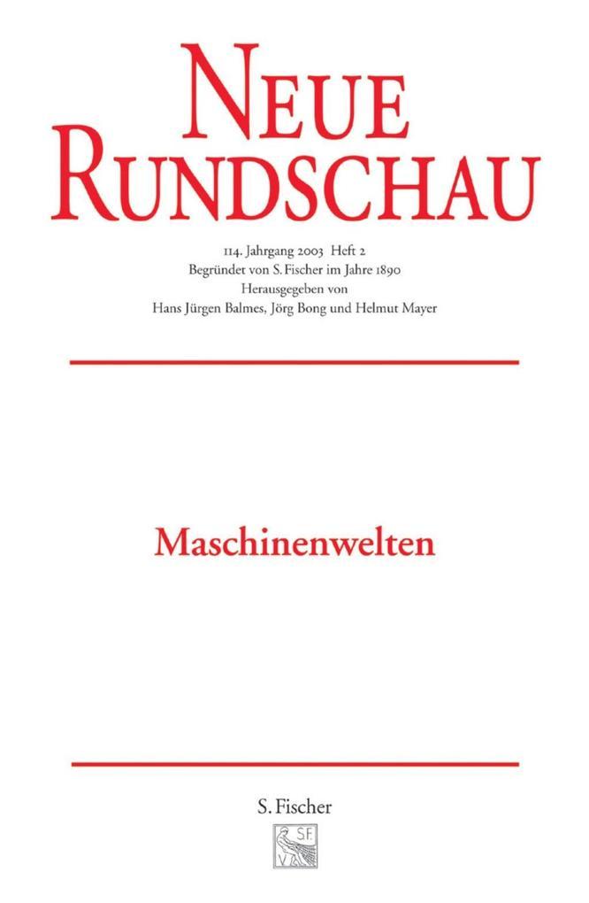 Neue Rundschau 2003/2 als Buch