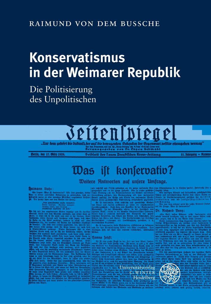 Konservatismus in der Weimarer Republik als Buch