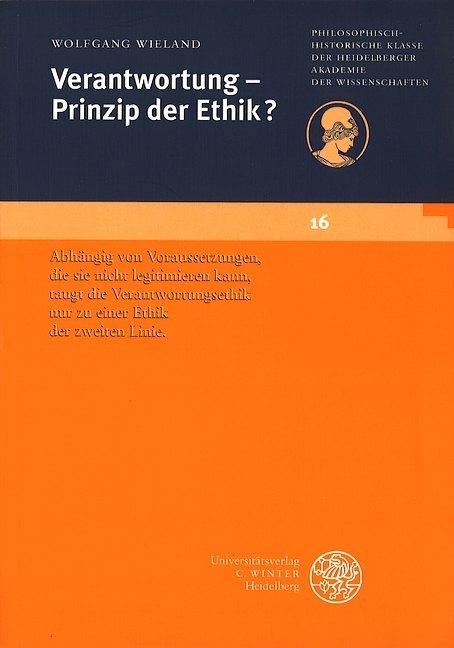 Verantwortung - Prinzip der Ethik? als Buch