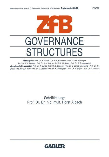 Governance Structures als Buch