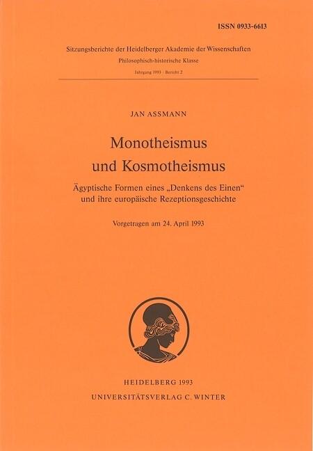 Monotheismus und Kosmotheismus als Buch