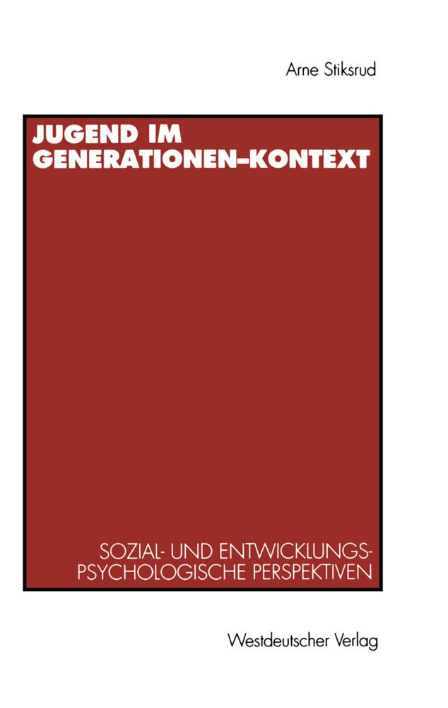 Jugend im Generationen-Kontext als Buch