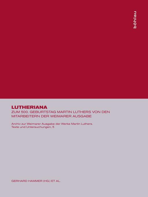 Lutheriana als Buch